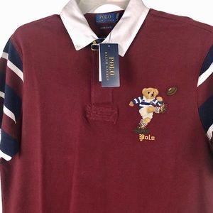 NWT Polo Ralph Lauren Rugby Bear Polo Shirt Red XL
